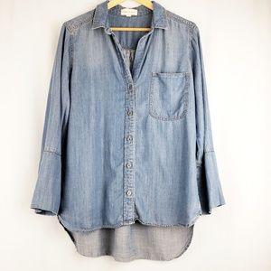 Cloth & Stone Tencel Chambray Top